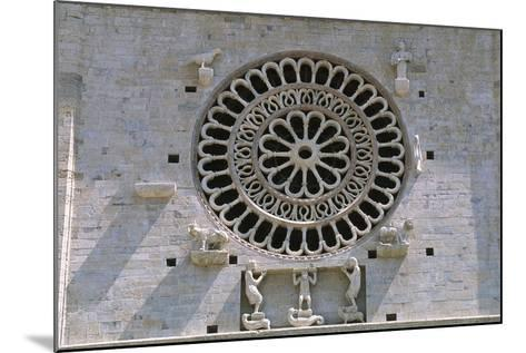 Italy, Umbria, Assisi, Cathedral of San Rufino, Detail of Facade--Mounted Giclee Print