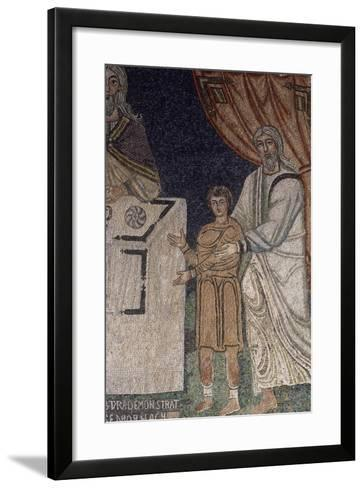 Abraham Offering Isaac as a Sacrifice--Framed Art Print