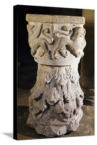 Font, Cathedral of Asti, Italy, 13th-15th Century--Stretched Canvas Print