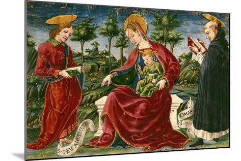 Madonna with Child, Miniature from Bolognese Master from Liber Iurium--Mounted Giclee Print