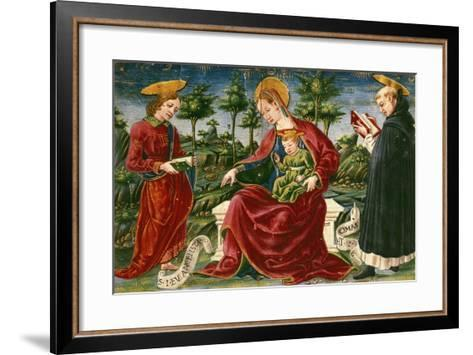 Madonna with Child, Miniature from Bolognese Master from Liber Iurium--Framed Art Print