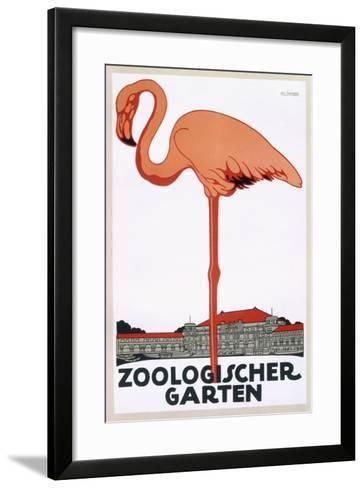 Poster for the Zoological Garden, Berlin, 1927--Framed Art Print