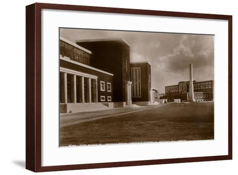 Facade of the Indoor Swimming Pool and Access to the Piazzale Dell'Impero, Foro Mussolini, Rome--Framed Art Print