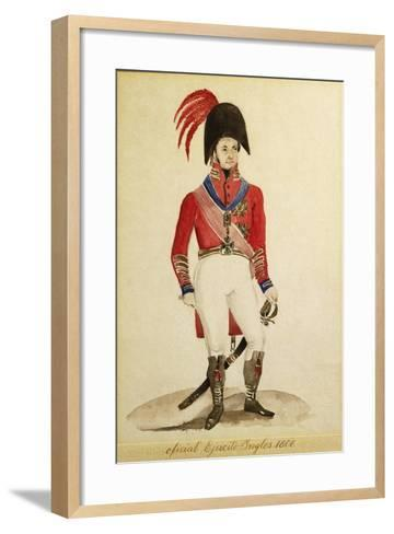 British Infantry Army Soldiers During the Invasion of Buenos Aires in 1806--Framed Art Print