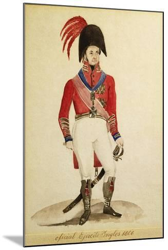 British Infantry Army Soldiers During the Invasion of Buenos Aires in 1806--Mounted Giclee Print
