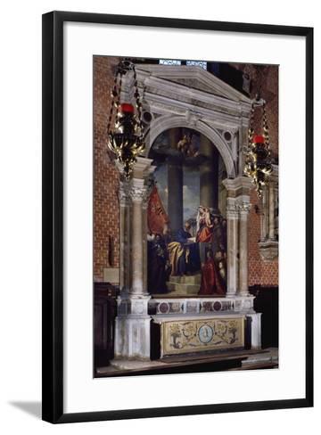 Madonna of Ca' Pesaro, 1519-1526--Framed Art Print