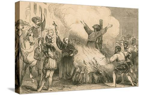 Burning of Patrick Hamilton at St. Andrews, 1528--Stretched Canvas Print
