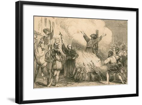 Burning of Patrick Hamilton at St. Andrews, 1528--Framed Art Print