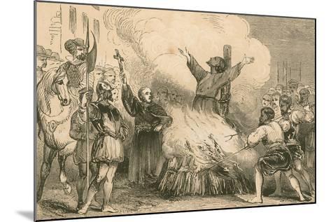 Burning of Patrick Hamilton at St. Andrews, 1528--Mounted Giclee Print
