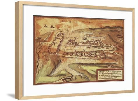 Map of the Island of Malta, from Civitates Orbis Terrarum--Framed Art Print