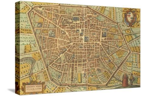 Map of Bologna from Civitates Orbis Terrarum--Stretched Canvas Print