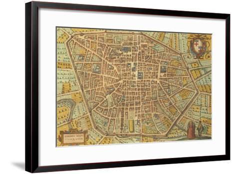 Map of Bologna from Civitates Orbis Terrarum--Framed Art Print
