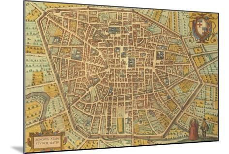 Map of Bologna from Civitates Orbis Terrarum--Mounted Giclee Print