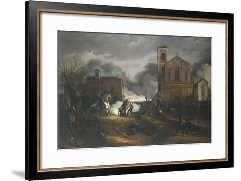 First War of Independence - Novara, Battle of Bicocca, 23 March 1849--Framed Art Print