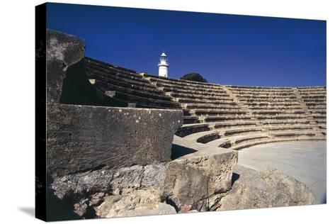 Cyprus, Paphos, Odeon, Amphitheatre--Stretched Canvas Print