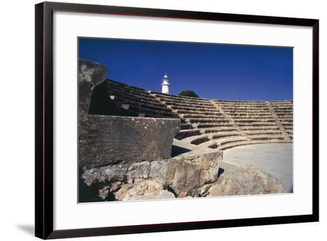 Cyprus, Paphos, Odeon, Amphitheatre--Framed Art Print