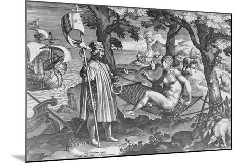 Amerigo Vespucci Introducing Himself to America, 1585--Mounted Giclee Print