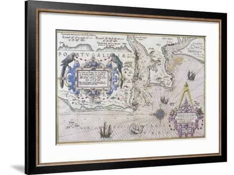 Mouth of Tagus River and Lisbon--Framed Art Print