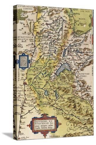 Map of Savoie, from Theatrum Orbis Terrarum, 1528-1598, Antwerp, 1570--Stretched Canvas Print