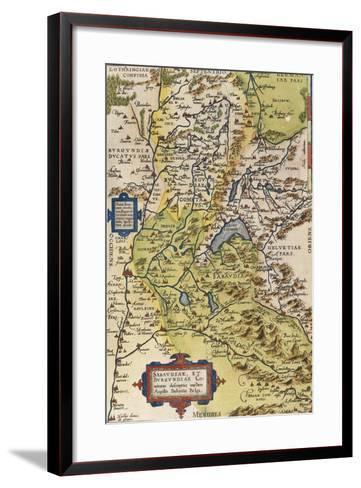 Map of Savoie, from Theatrum Orbis Terrarum, 1528-1598, Antwerp, 1570--Framed Art Print