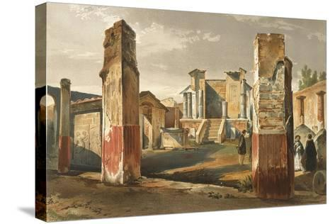 Italy, Pompeii, Temple of Isis, Volume I, Plate I--Stretched Canvas Print