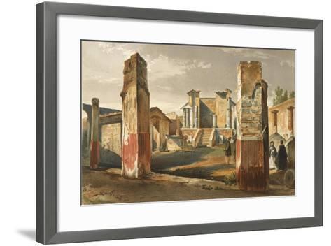 Italy, Pompeii, Temple of Isis, Volume I, Plate I--Framed Art Print