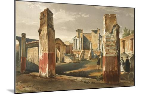 Italy, Pompeii, Temple of Isis, Volume I, Plate I--Mounted Giclee Print