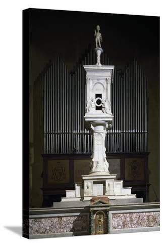 Marble Ciborium in Cathedral of Volterra, Tuscany, Italy--Stretched Canvas Print