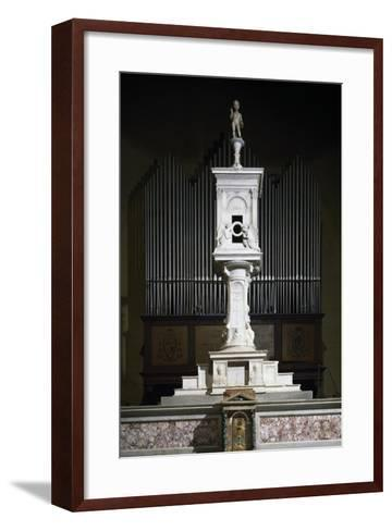 Marble Ciborium in Cathedral of Volterra, Tuscany, Italy--Framed Art Print