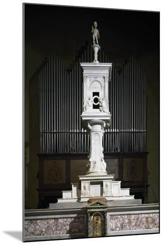 Marble Ciborium in Cathedral of Volterra, Tuscany, Italy--Mounted Giclee Print