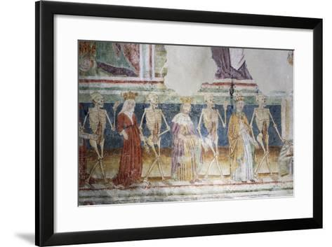Hrastovlje Fortified Church, Trinity Church, Death Accompanying Pope and Queen, Dance of Death--Framed Art Print