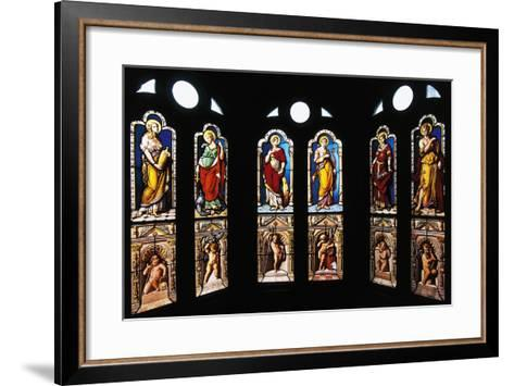 Figures of Saints, Stained Glass in Oratory, Royal Chateau De Blois--Framed Art Print