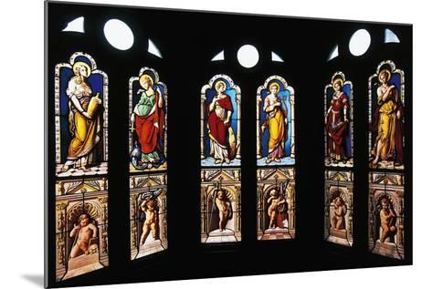 Figures of Saints, Stained Glass in Oratory, Royal Chateau De Blois--Mounted Photographic Print
