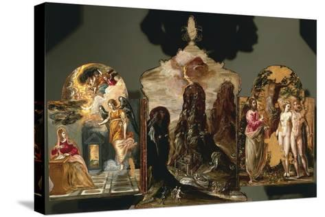Annunciation, Vision of Mount Sinai, God Warning Adam and Eve--Stretched Canvas Print