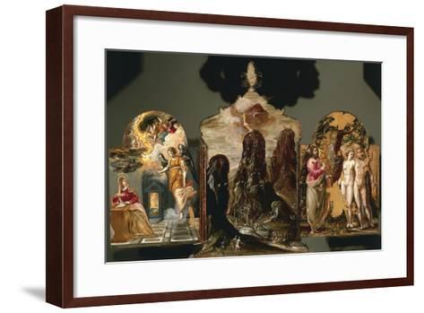 Annunciation, Vision of Mount Sinai, God Warning Adam and Eve--Framed Art Print