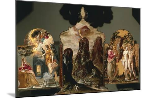 Annunciation, Vision of Mount Sinai, God Warning Adam and Eve--Mounted Giclee Print