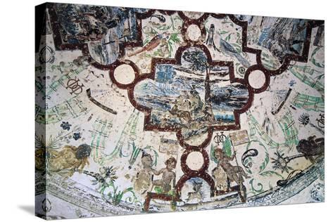 Frescoes, Domeyrat Castle--Stretched Canvas Print