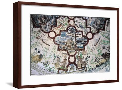 Frescoes, Domeyrat Castle--Framed Art Print