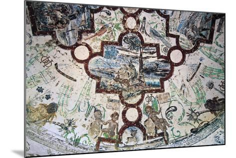 Frescoes, Domeyrat Castle--Mounted Giclee Print