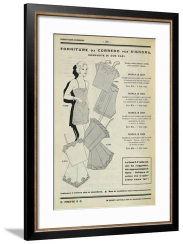 Women's Set of Clothing: Dressing Gown and Pants, Page from Frette Catalogue, 1934--Framed Art Print