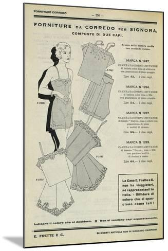 Women's Set of Clothing: Dressing Gown and Pants, Page from Frette Catalogue, 1934--Mounted Photographic Print