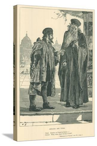 Illustration for the Merchant of Venice--Stretched Canvas Print