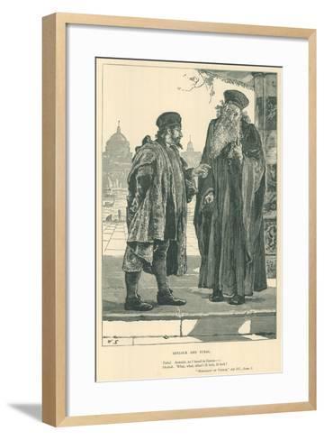 Illustration for the Merchant of Venice--Framed Art Print