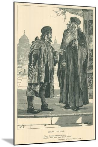 Illustration for the Merchant of Venice--Mounted Giclee Print