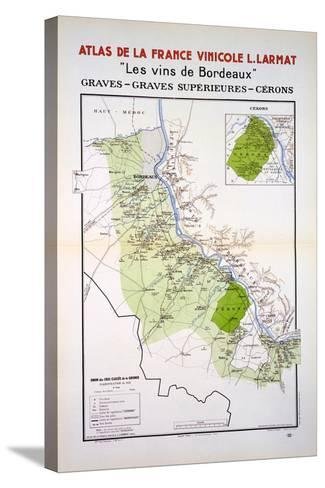 Map of the Graves and Cerons Regions--Stretched Canvas Print
