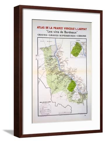 Map of the Graves and Cerons Regions--Framed Art Print