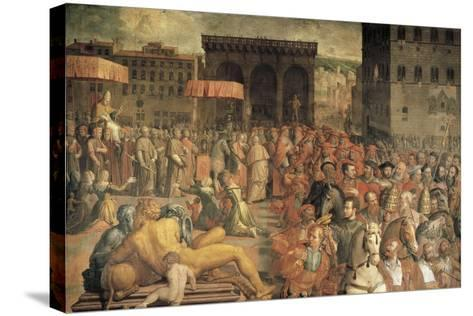 Italy, Florence, Pope Leo X--Stretched Canvas Print