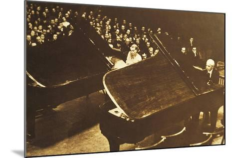 Hungary, Budapest, Bela Viktor Janos Bartok in Concert at Piano with His Second Wife Ditta Pasztory--Mounted Giclee Print
