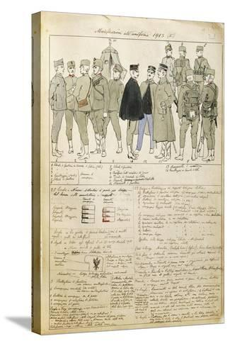 Uniform Variations of Kingdom of Italy, 1913--Stretched Canvas Print
