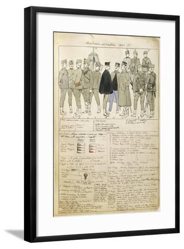 Uniform Variations of Kingdom of Italy, 1913--Framed Art Print